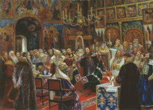 Суд над Патриархом Никоном. Картина Сергея Милорадовича