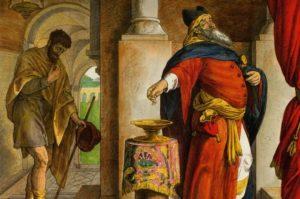 Юлиус фон Каросфельд. «Фарисей и мытарь», 1860 г /Public Domain