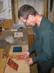 Анатолий Соловьев - изготовил оклад для Библии