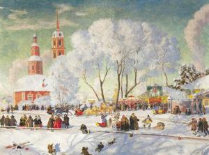 Масленица В.Б. Кустодиев, 1920