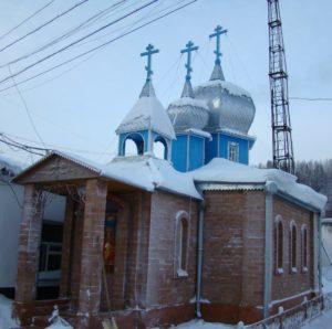 Церковь в честь иконы пресвятой Богородицы Державная. ИК-24, пос. Сирачой
