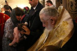 Грузинский патриарх в День святых жен-мироносиц совершил крещение более тысячи малышей