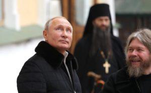 Президент России В.В. Путин посетил Псково-Печерский монастырь (видео)