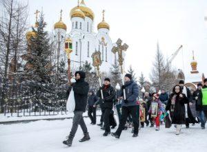 Крестный ход и праздничный концерт венчали праздник Рождества в Сыктывкаре