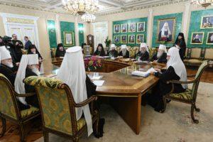 Заседание Священного Синода Русской Православной Церкви прошло в Даниловом монастыре в Москве