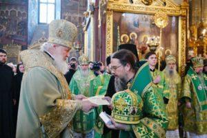 Святейший Патриарх Кирилл возвел епископа Воркутинского и Усинского Марка в сан архиепископа