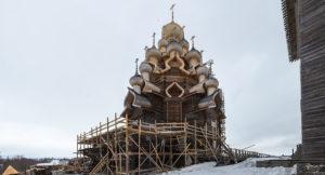 Завершена реставрация Преображенской церкви на острове Кижи