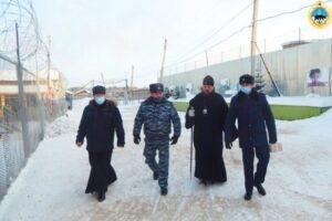 Архиепископ Питирим посетил колонию в Верхнем Чове